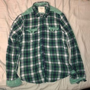Green Plaid Abercrombie & Fitch Button Up